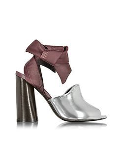 3.1 Phillip Lim | Kyoto Silver And Malbec Leather Ankle Knotted Sandal