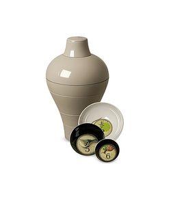 Ibride | Grey Ming Vase/Stackable Bowls