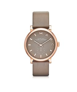 Marc by Marc Jacobs | Baker 36 Mm Leather Strap And Rose Gold Stainless Steel