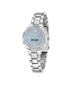 Just Cavalli | Just Indie Tone Stainless Steel Womens Watch W/Blue Dial