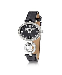 Just Cavalli | Just Icon Silver Stainless Steel W/ Croco Embossed Patent Leather Womens