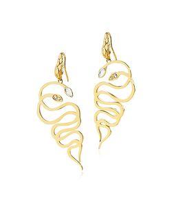 Just Cavalli | Just Medusa En Steel Earrings W/Crystals
