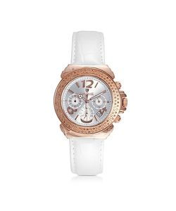 Lancaster | Pillo Chrono Rose Stainless Steel And Lether Womens Watch