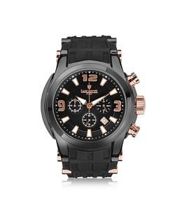 Lancaster | Bongo Chrono Mens Stainless Steel Watch W/ Rubber Strap