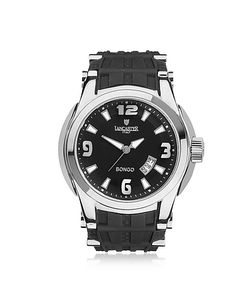 Lancaster | Bongo Tempo Mens Silver Stainless Steel Watch W/ Rubber Strap