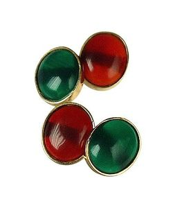 Forzieri Exclusives | Agate And Carnelian 18k Gold Cufflinks
