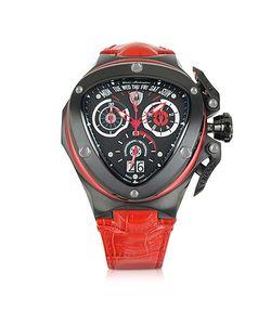 Tonino Lamborghini | Spyder Red Leather Chronograph Watch