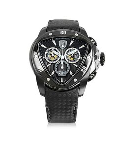 Tonino Lamborghini | Stainless Steel Spyder Chronograph Watch W/ Carbon Fiber Strap