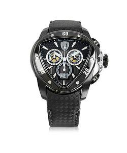 Tonino Lamborghini | Stainless Steel Spyder Chronograph Watch W/ Carbon Fiber Strap