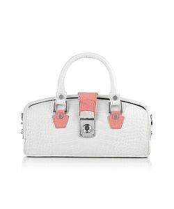 L.A.P.A. | Ivory Croco-Embossed Mini Doctor Bag