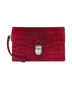 L.A.P.A. | Croco-Embossed Leather Clutch