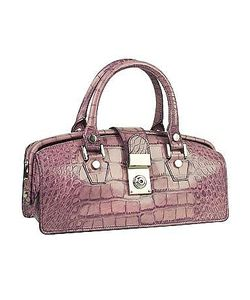 L.A.P.A. | Croco-Embossed Mini Doctor Style Bag