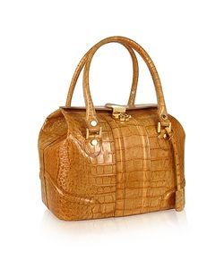 L.A.P.A. | Croco Stamped Italian Leather Tote Bag