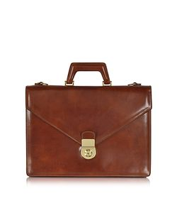 L.A.P.A. | Double Gusset Leather Briefcase