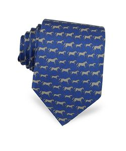 Laura Biagiotti | Horses Print Silk Narrow Tie
