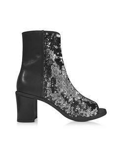MM6 Maison Martin Margiela | And Silver Sequins Open-Toe Bootie