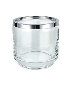Masini | Glass And Silver Ice Bucket