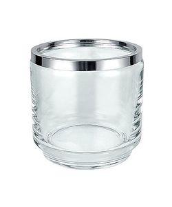 Masini | Glass And Silver Ice Bucket