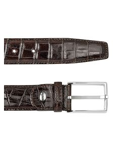Manieri | Mens Croco Stamped Leather Belt