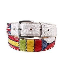 Manieri | Flags Patchwork Leather Belt