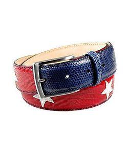 Manieri | Stars And Stripes Patchwork Leather Belt