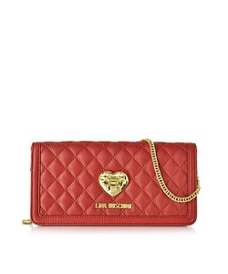 Love Moschino | And Black Quilted Wallet On Chain