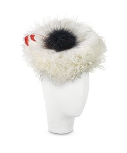Nana' | Abigail Ivory Ostrich Feather Headdress