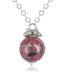 Naoto   Alchimia Sterling Silver Fuchsia Pendant Necklace