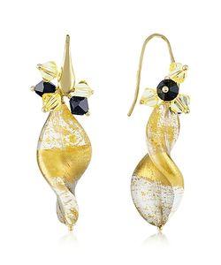 Naoto   Foil Drop Earrings
