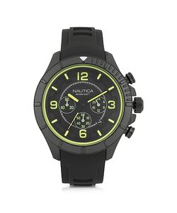 Nautica | Stainless Steel Case And Rubber Strap Mens Watch