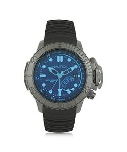 Nautica | Nmx Stainless Steel Case And Rubber Strap Mens Dive Watch