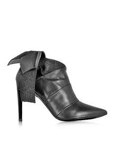 Proenza Schouler | Черные Ботинки Из Кожи И Фетра