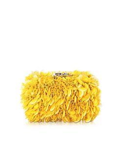Corto Moltedo | Susan C Star Yellow Explosion Nappa Leather Pochette W/Chain Strap