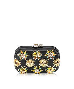 Corto Moltedo | Susan C Star Nappa Leather And Gold Flowers Crystals Pochette