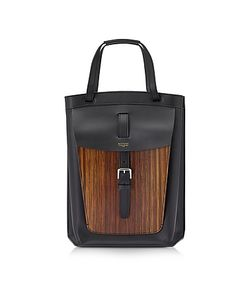 BERTONI 1949 | Arizona Leather And Wood-Effect Tote Bag