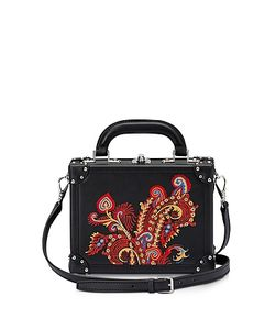 BERTONI 1949 | Paisley Leather Mini Squared Bertoncina Bag