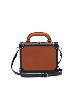 BERTONI 1949 | Terra Black Leather Mini Squared Bertoncina Bag