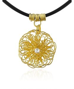 Orlando Orlandini | Central Diamond 18k Yellow Pendant Necklace