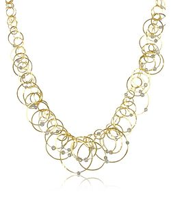 Orlando Orlandini | Scintille Anniversary Diamond 18k Yellow Gold Necklace