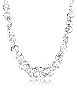 Orlando Orlandini | Scintille Anniversary Diamond 18k White Chain Necklace