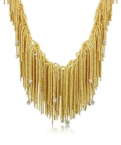 Orlando Orlandini | Flirt Diamond Drops 18k Yellow Thread Necklace