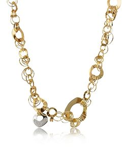 Orlando Orlandini | Fashion Diamond 18k Rose Chain Necklace