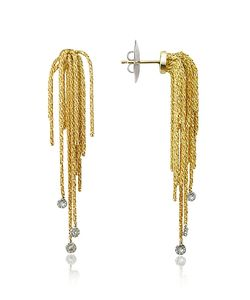 Orlando Orlandini | Flirt Diamond Drops 18k Yellow Earrings