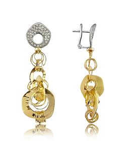 Orlando Orlandini | Fashion Diamond 18k Two-Tone Drop Earrings