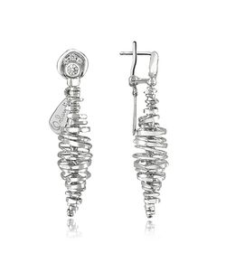 Orlando Orlandini | Galaxy 18k White Drop Earrings