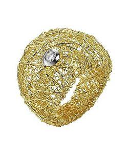 Orlando Orlandini | Arianna 18k Wide Ring W/ Round Diamond