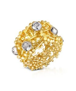 Orlando Orlandini | Diamond 18k Yellow Band Ring