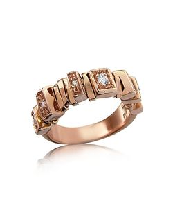 Orlando Orlandini | Sole Diamond 18k Rose Band Ring