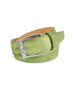 Pakerson | Mens Pistachio Hand Painted Italian Leather Belt