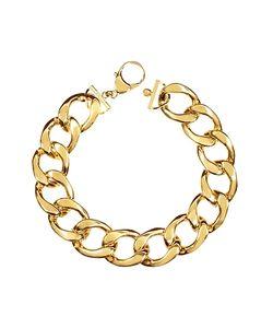 Pluma | The Gwyneth En Brass Link Necklace